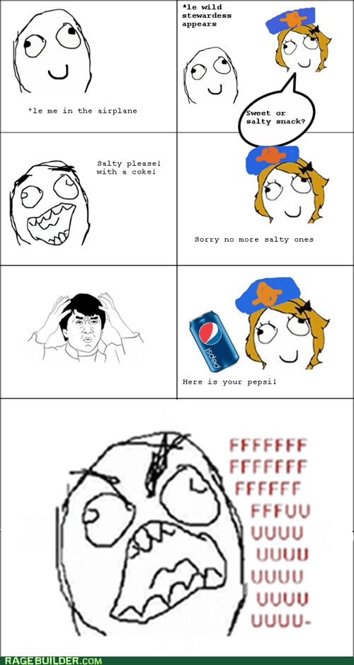 drinks,flying,fu guy,plane,Rage Comics,snacks