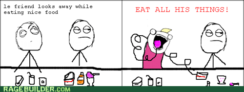 all the things foods friendship Rage Comics