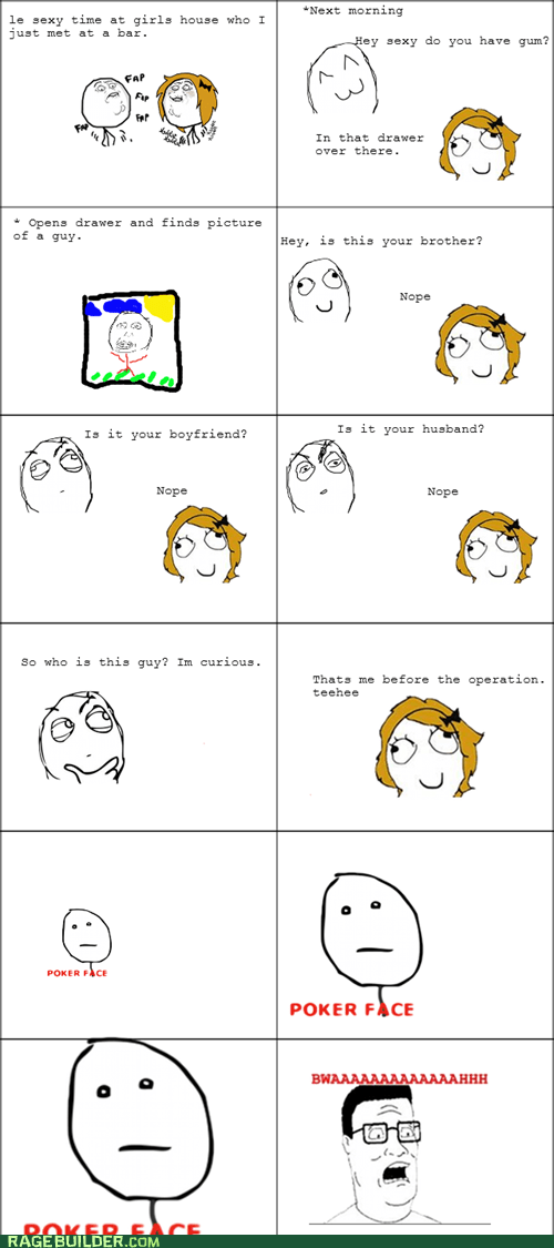 Awkward,bwah,dating,poker face,Rage Comics,trans