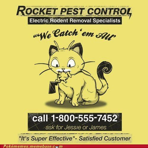 crossover,Meowth,pest control,pikachu,Team Rocket,yellow pages