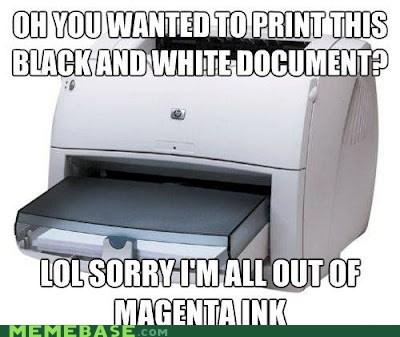 black and white ink printer Scumbag Steve - 6031675904