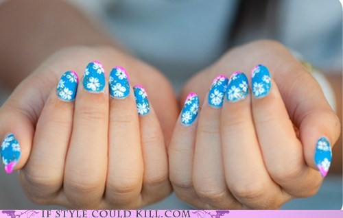 cool accessories flowers nail art nails spring - 6031716608