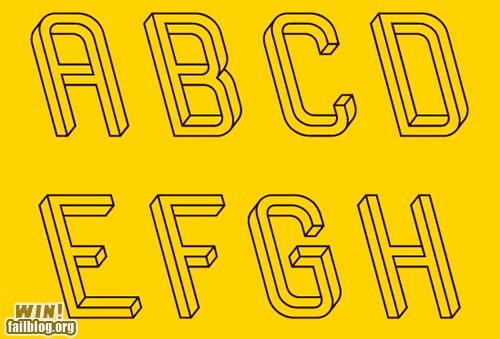 design,escher,font,illusion,my brain is full,typeface
