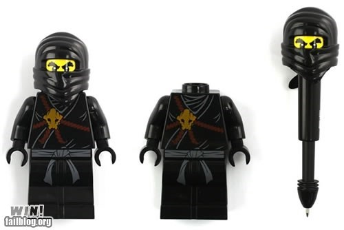 lego nerdgasm ninja office swag pen stealthy - 6031807488