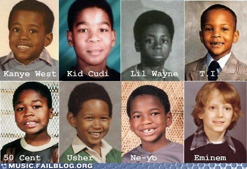 child eminem hip hop kanye west Kid Cudi lil wayne rap t-i-50-cent usher ne-yo young