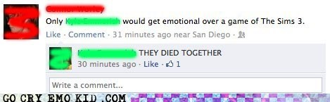 Death,emolulz,facebook,The Sims