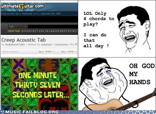 chords,comic,creep,guitar,radiohead,rage comic,tabs