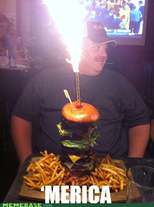 america burger fries lighter Memes - 6032039424