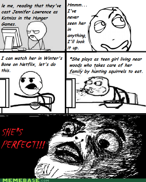 casting Rage Comics raisin face hunger games - 6032058880