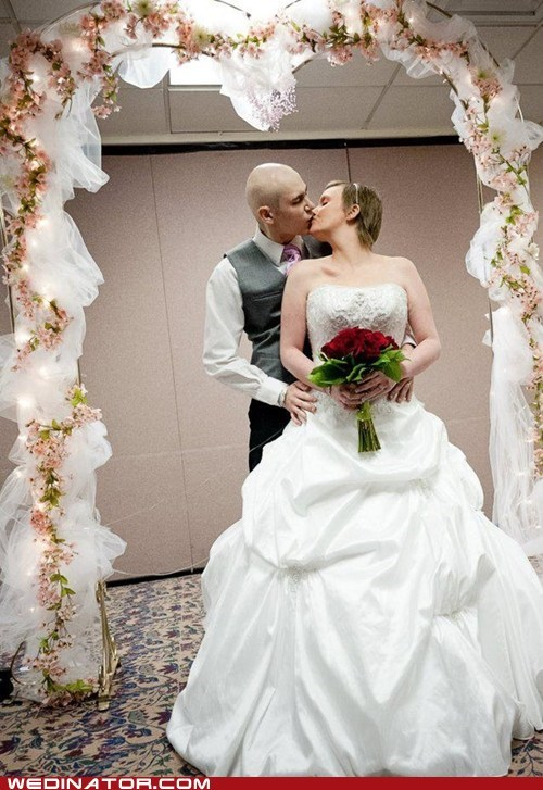 cancer funny wedding photos Hall of Fame hospital KISS wedding - 6032065536