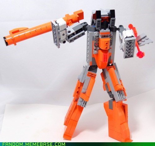 crossover Fan Art lego NES transformer zapper pistol - 6032273664