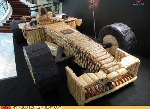bread,car,carbs,formula one,racecar
