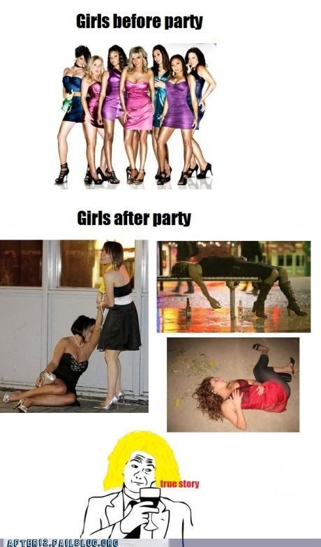 Before And After,drunk girls,Party,true story,woo girls