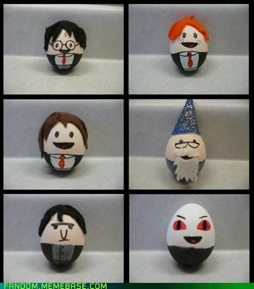 books eggs Fan Art fandom fantasy Harry Potter movies - 6032551168