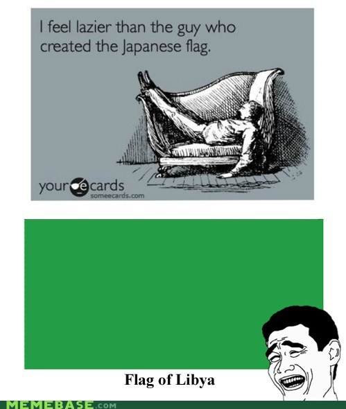flag green Japan libya Rage Comics - 6032765696
