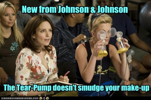 New from Johnson & Johnson The Tear-Pump doesn't smudge your make-up