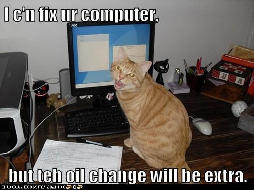 but change charge computer extra fix oil service tabby