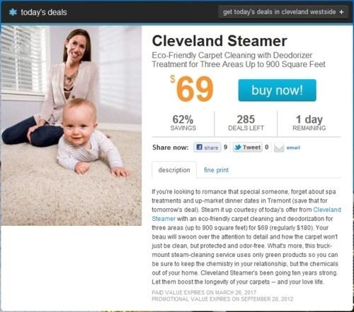 cleveland steamer Deal of the Day LivingSocial - 6032910336