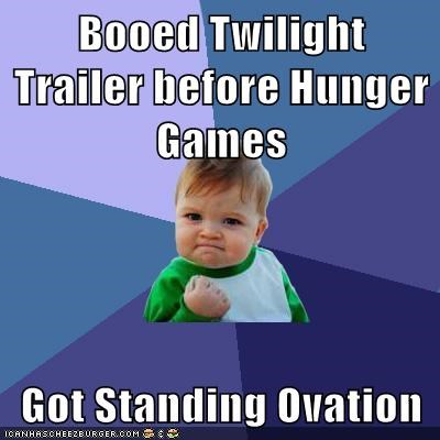 clapping,hunger games,ovation,success kid,twilight