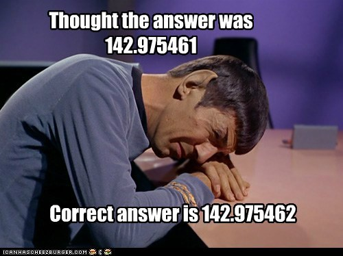 answer correct failed Leonard Nimoy logic math Spock Star Trek - 6033056768