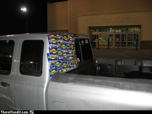 back window,gas,sticker,sunoco,truck,Walmart