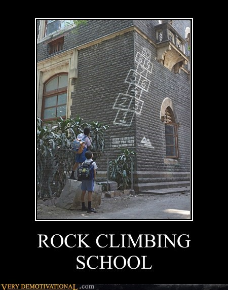 school rock climbing awesome funny - 6033337344