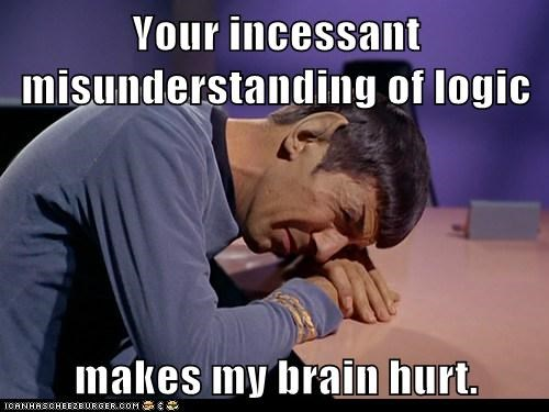 brain crying hurt Leonard Nimoy logic misunderstanding Sad Spock Star Trek - 6033590016