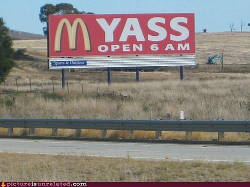 Ad billboard McDonald's posterior wtf - 6033901568