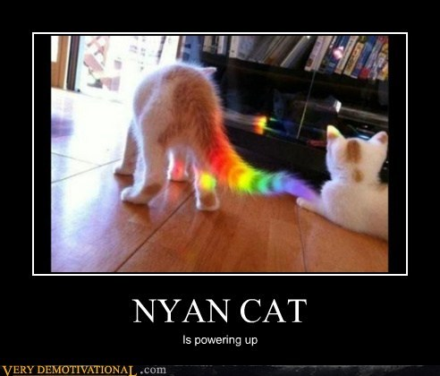 cat,hilarious,Nyan Cat,powering up,wtf