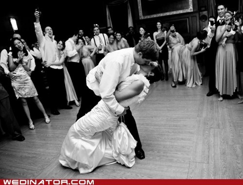bride dancing funny wedding photos groom KISS