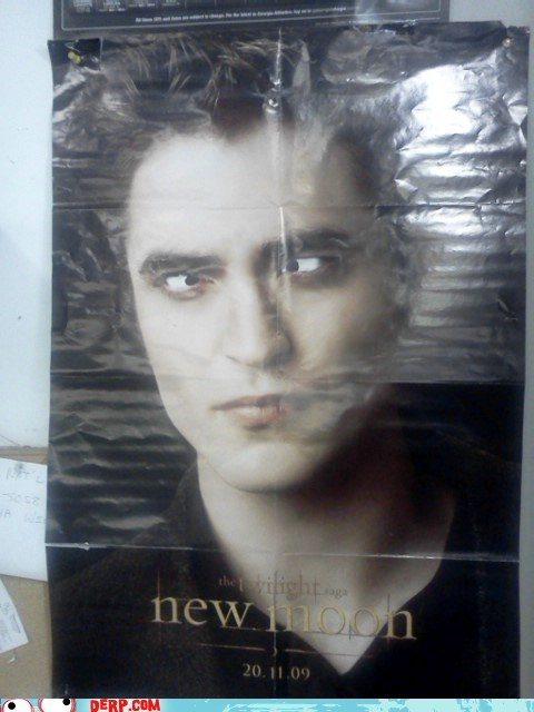derp,edward cullen,movie poster,new moon,robert pattinson