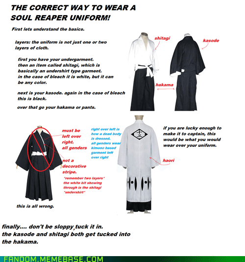 cosplay,hakama,How To,kasode,shitagi,soul reaper