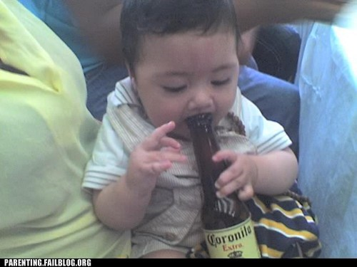 beer corona tanked toddlers