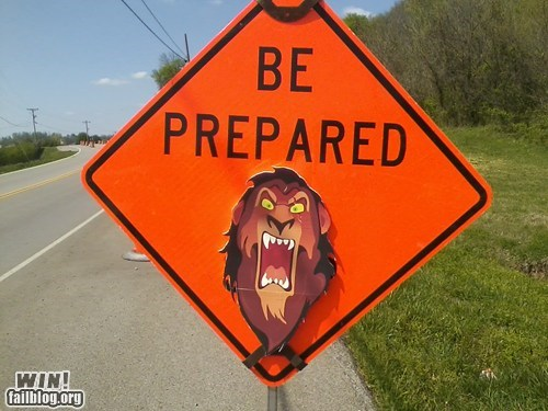 disney,g rated,hacked irl,Hall of Fame,lion king,road sign,scar,sign,win
