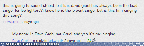 comment,Dave Grohl,foo fighters,youtube,youtube comment