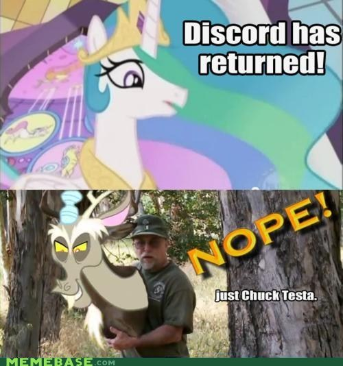 celestia Chuck Testa meme madness my little pony nope