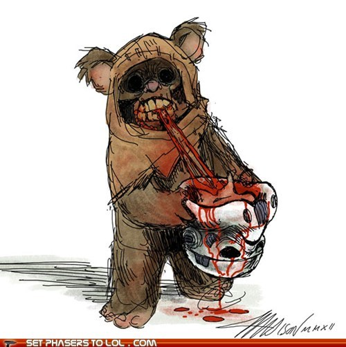 best of the week,endor,ewok,head,star wars,stormtrooper,The Walking Dead,zombie