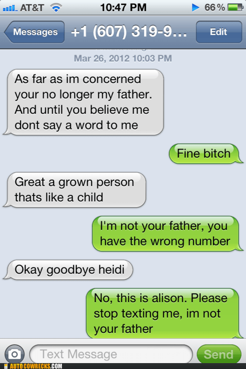 dad family Father mature parenting wrong number