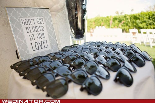 funny wedding photos,sunglasses