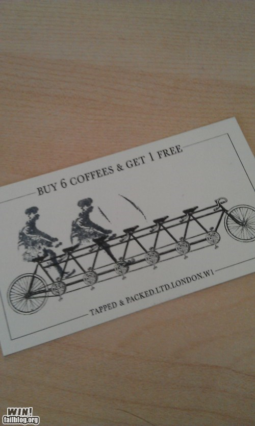 bike business clever coffee punch card - 6035982336
