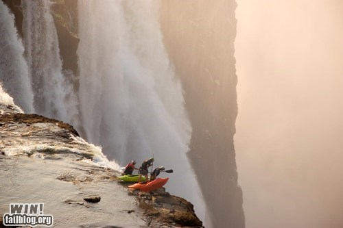 kayak,photography,vertigo,waterfall,wincation