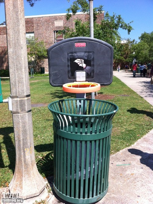 basketball,clever,litter,sports,trash