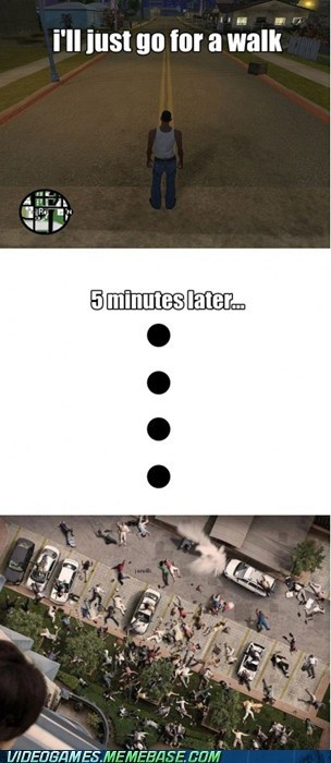 5 minutes later comic Grand Theft Auto san andreas - 6036056576