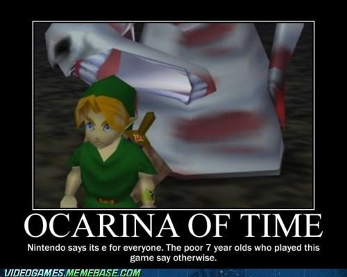 kids nintendo ocarina of time scary video games zelda - 6036093440