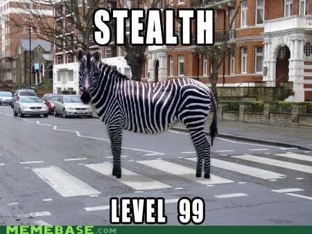 crosswalk level Memes stealth zebra