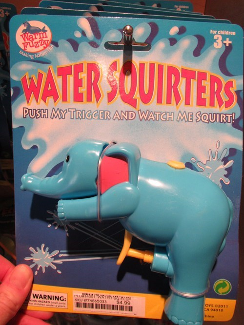 elephant kids toy squirter toy water gun