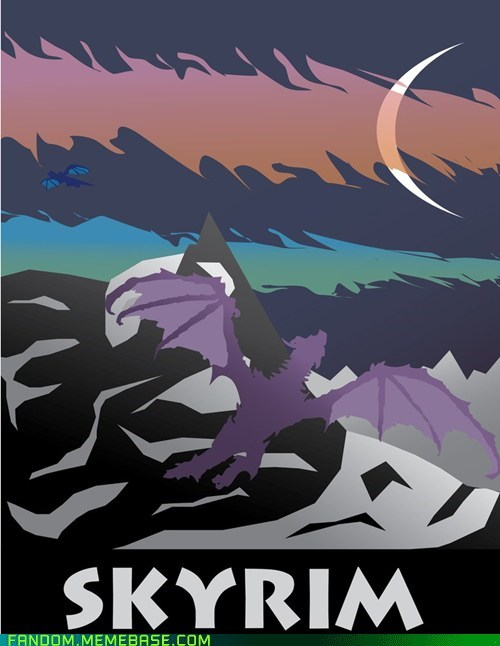 Fan Art poster Skyrim video games - 6036357888