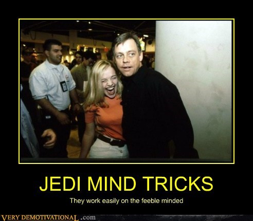 hilarious,Jedi,Mark Hamill,mind trick,Sexy Ladies,wtf