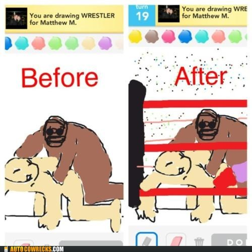 buttsecks,draw something,wrestler,wrestling