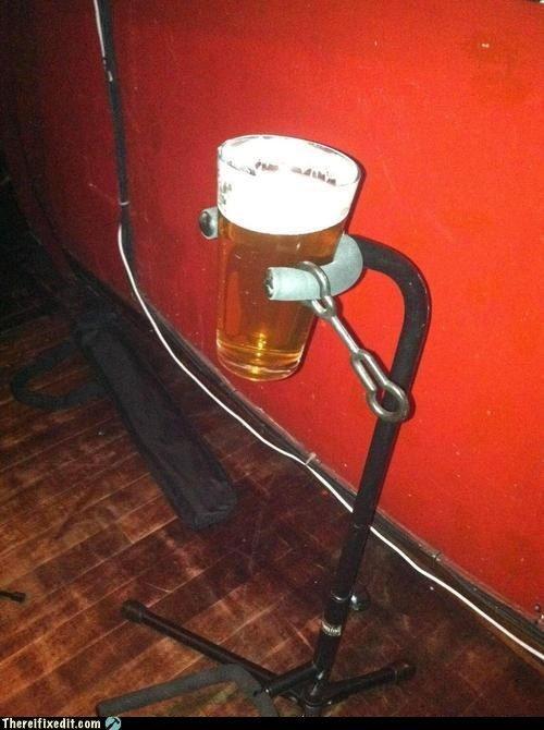 band beer guitar stand musician